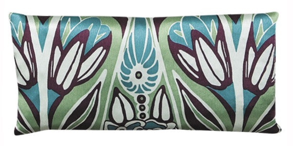Silk Eye Pillow - Art Nouveau Teal & Purple