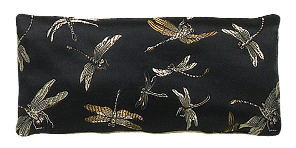 Silk Eye Pillow - Dragonfly Black