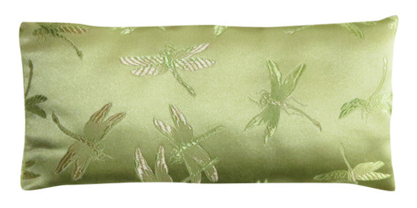 Silk Eye Pillow - Dragonfly Chartreuse
