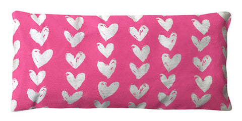 organic cotton eye pillow hearts