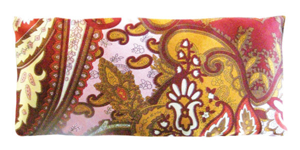 Silk Eye Pillow - Paisley Brown