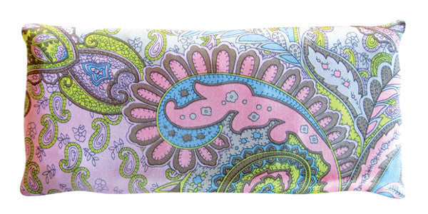 Silk Eye Pillow - Paisley Green