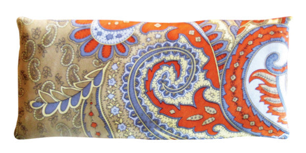 Silk Eye Pillow - Paisley Orange