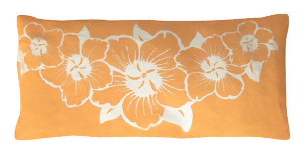 Organic Cotton Eye Pillow - Tradewinds Orange Hibiscus