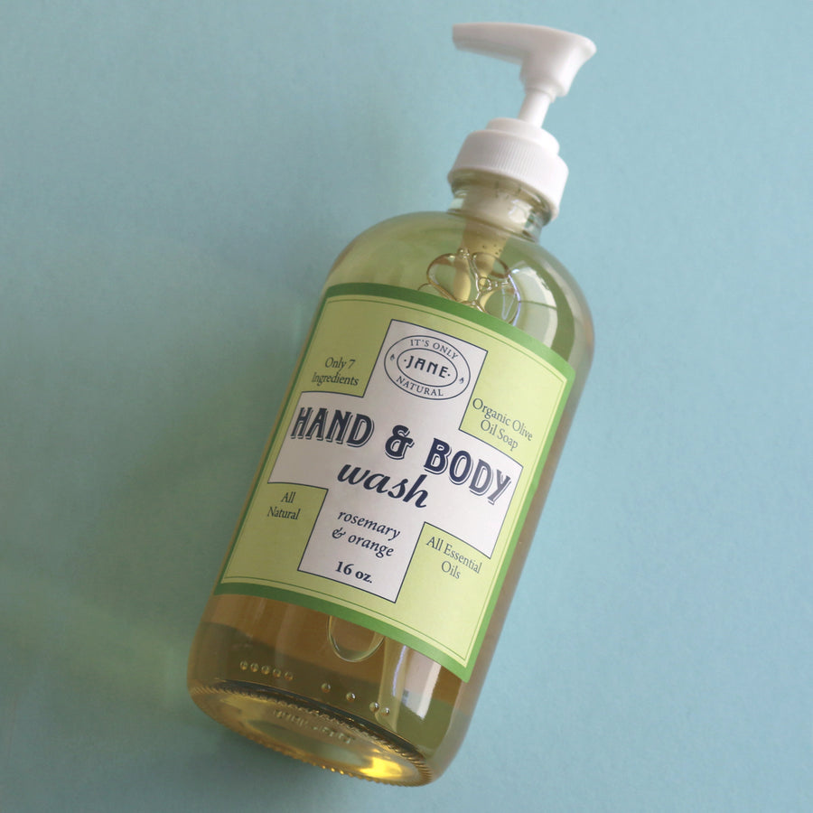 Hand & Body Wash - Rosemary & Orange