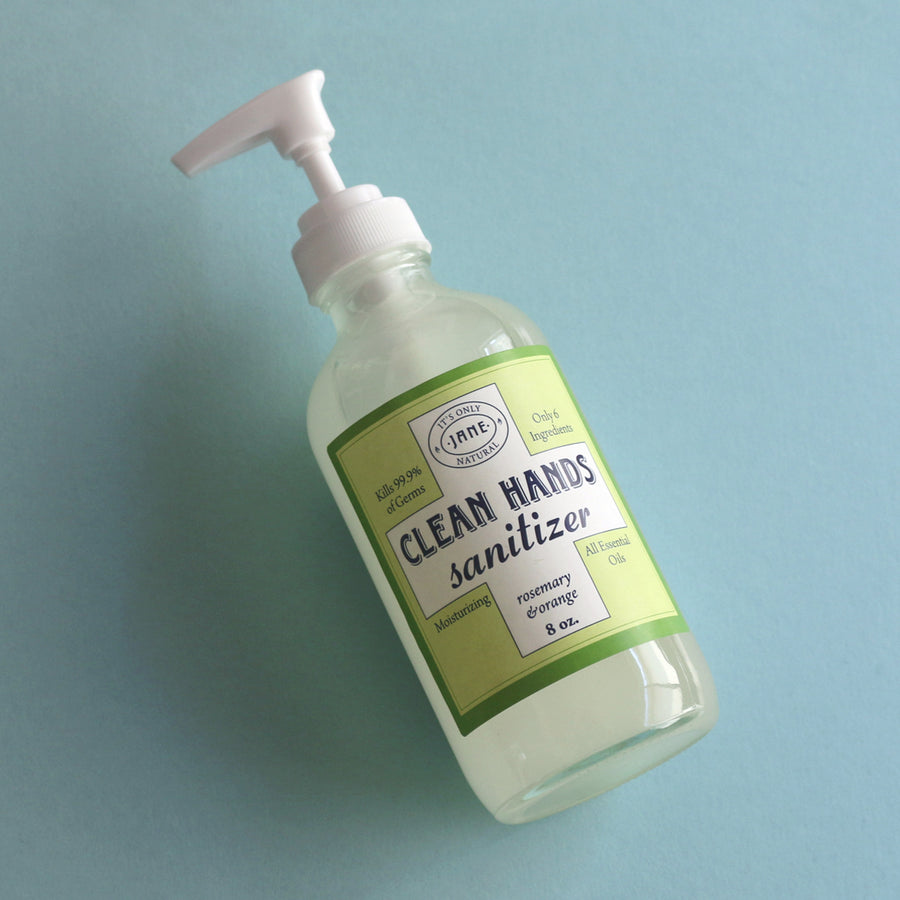 Clean Hands Sanitizer Gel - Rosemary & Orange