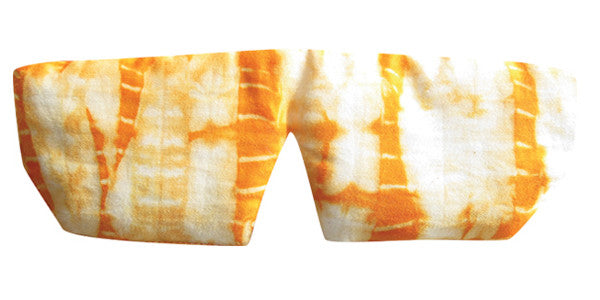 Organic Cotton Sleep Mask - Shibori Orange
