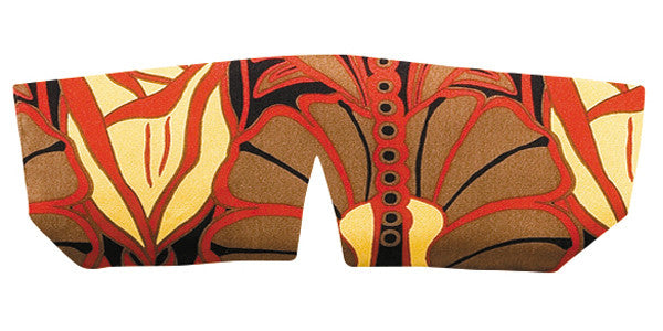 Silk Sleep Mask - Art Nouveau Red & Black