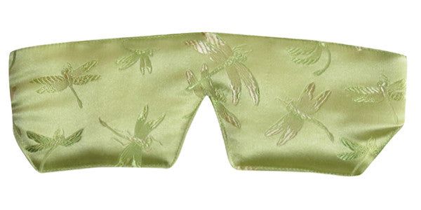 Silk Sleep Mask - Dragonfly Chartreuse