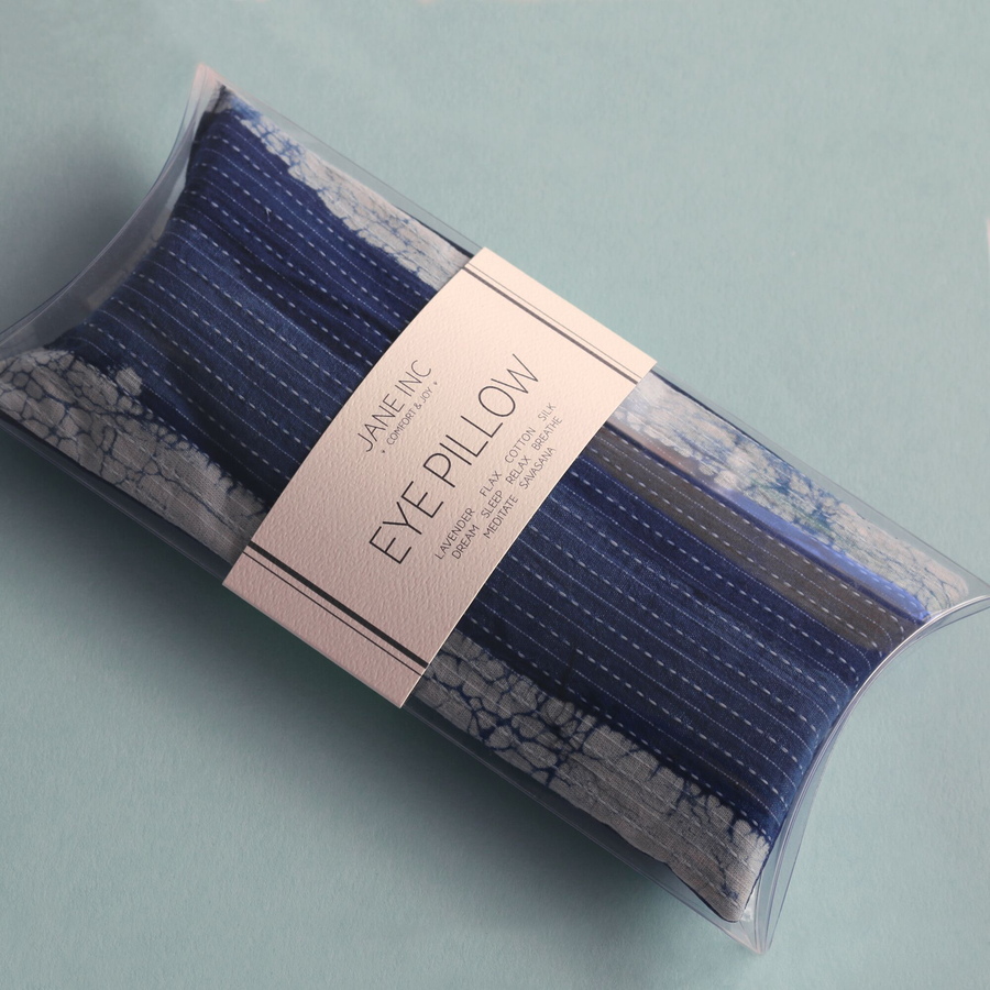 Eye Pillow - Indigo Stripes
