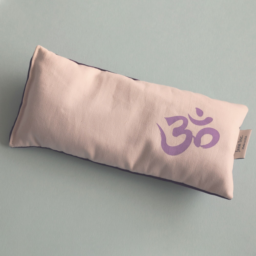 Organic Cotton Eye Pillow - Om Lilac