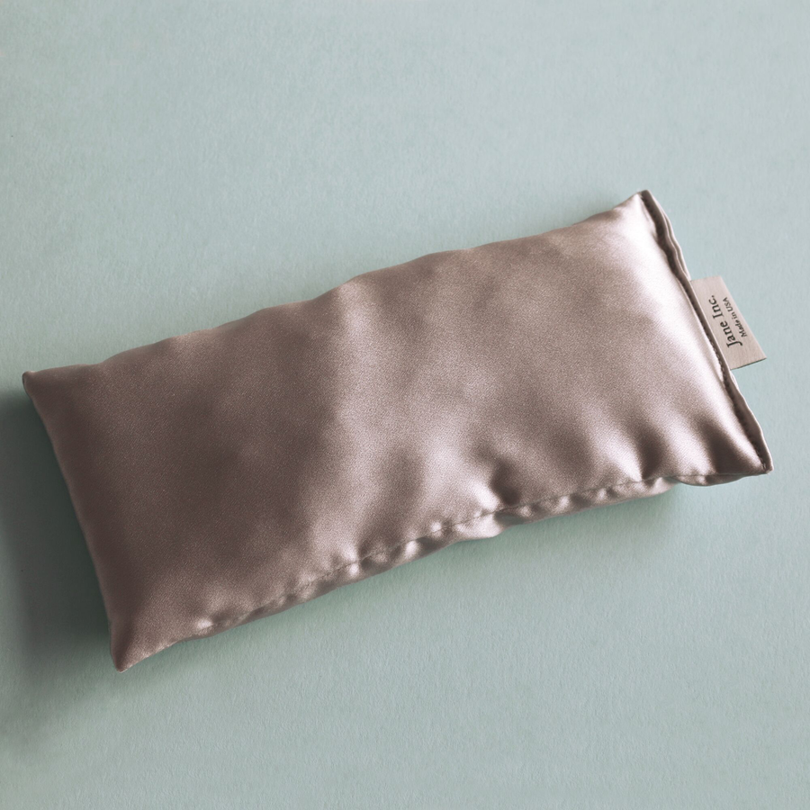 Eye Pillow - Silk Charmeuse Silver