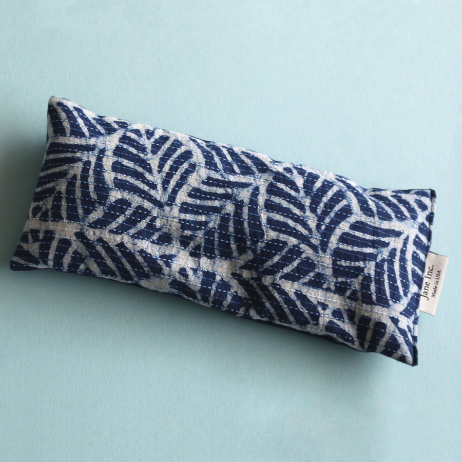 Eye Pillow - Indigo Palms