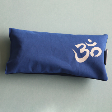 Organic Cotton Eye Pillow - Om Navy