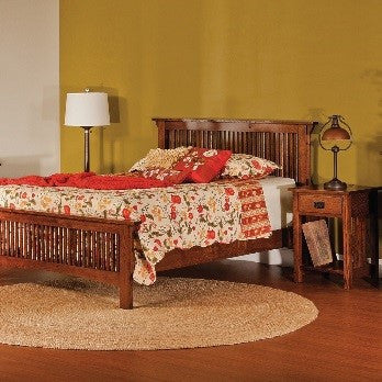 Amish hardwood beds and headboards