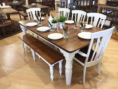 Amish Tables Two Tone Dining Set