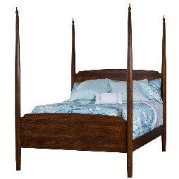 Solid wood pencil post bed