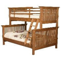 mission solid wood bunk bed