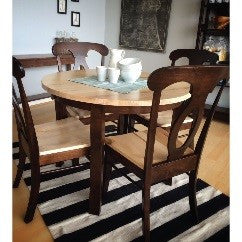 contemporary style solid wood dining sets
