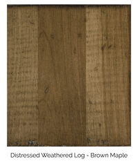 Distressed Weathered Log Brown Maple