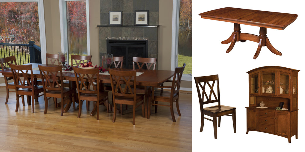 baytown double pedestal dining set