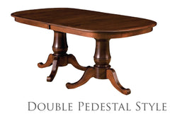 Double Pedestal Style Table