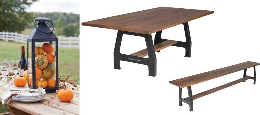 Amish Fall Dining Styles - Rustic Laredo Set