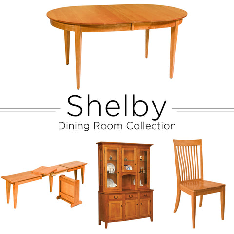Amish made hardwood shelby dining room set