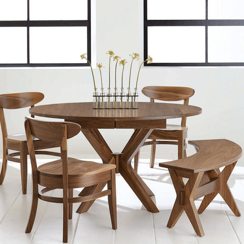 Amish Tables Solid Wood Pedestal Dining Table