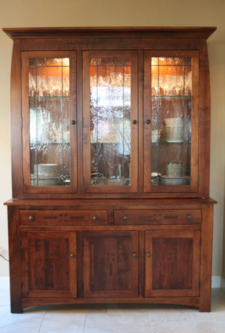amish tables maple dining room hutch