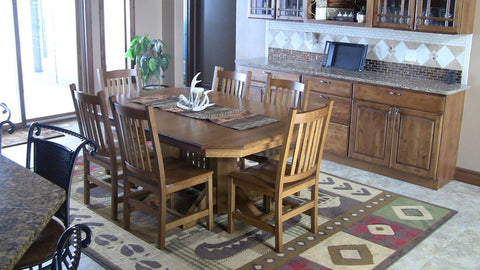 amish tables quarter sawn oak dining set
