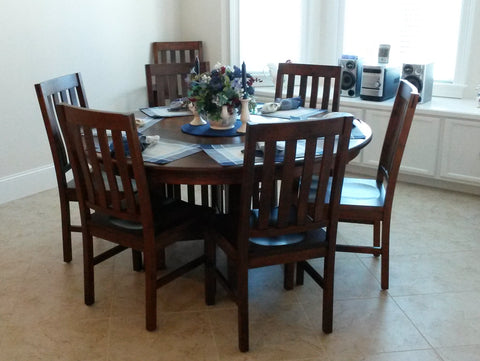Amish Arts and Crafts Dining Table and Chairs