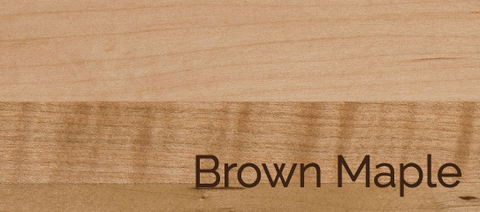 Brown Maple Wood & Stains