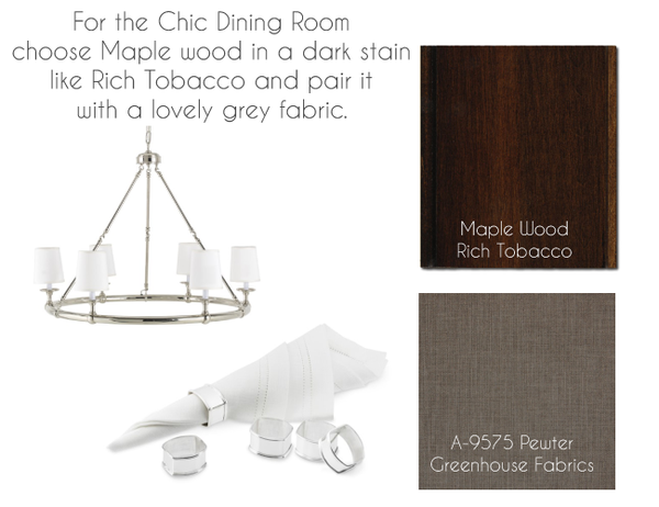 Inspiration for a Chic Dining Room with Hardwoods