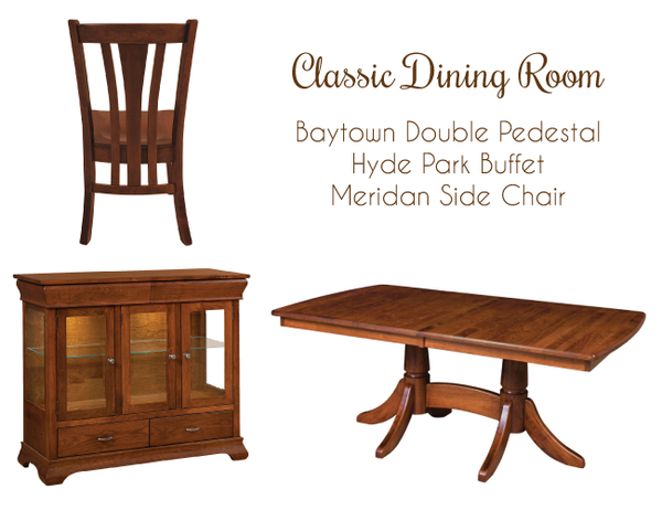 classic dining room set inspiration with solid hardwood furniture
