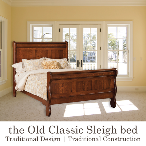 traditional wood sleigh beds