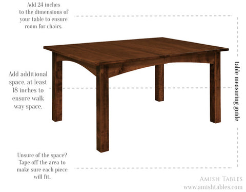 dining room table measuring guide