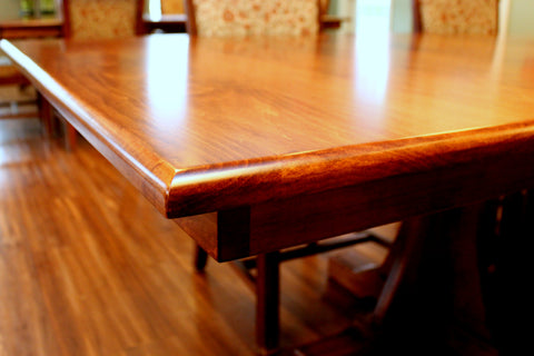 Amish hardwood table construction