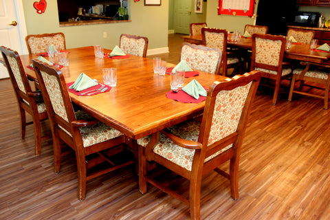 Amish Baytown Double Pedestal Hardwood Dining Tables