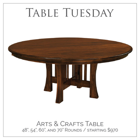 Amish Tables Arts and Crafts Pedestal Table