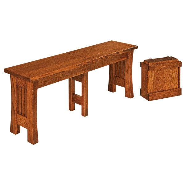 Arts and Crafts Extendable Bench