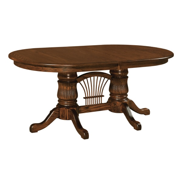 Fluted Double Pedestal Extension Table