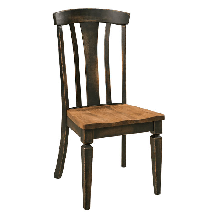Solid Wood Rustic Dining Chair | Amish Tables