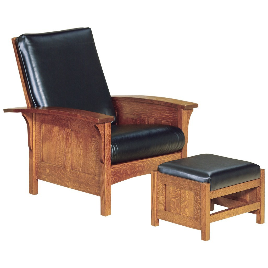 Bow Arm Morris Chair Amish Living Room Furniture Amish