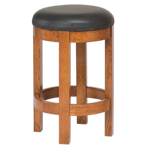 Barrel Bar Stool - Amish Tables  - 1