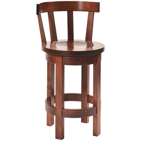 Meribeth Back Barrel Bar Stool - Amish Tables  - 1