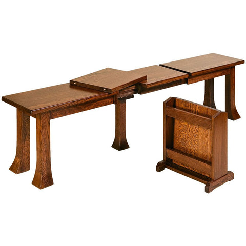 Breckenridge Extendable Bench - Amish Tables  - 1