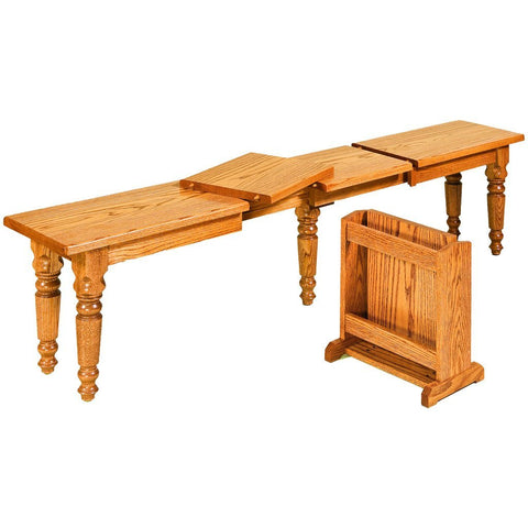 Farmer's Extendable Bench - Amish Tables  - 1