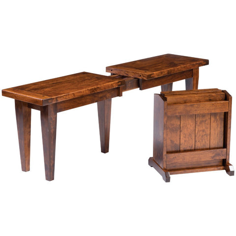 Fresno Extendable Bench - Amish Tables  - 1
