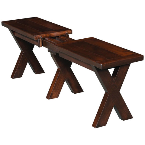 Frontier Extendable Bench - Amish Tables  - 1